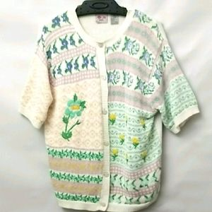 Tanjay Womans Cardigan Size Small Button Up